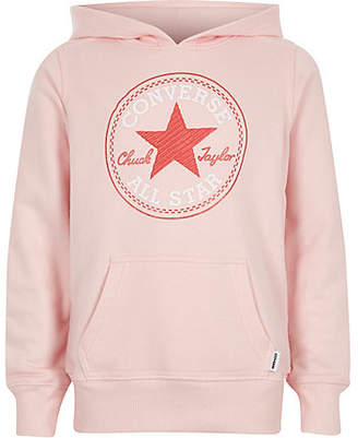 River Island Girls Converse pink star print hoodie