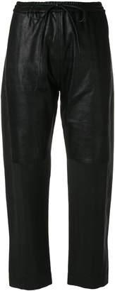Ilaria Nistri cropped drawstring waist trousers