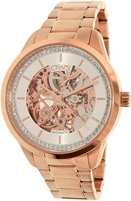 Chaps レディースchp9503ローズゴールドステンレススチールAutomatic Watch