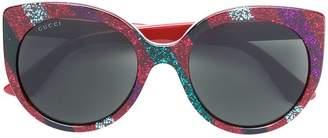 Gucci glitter striped sunglasses