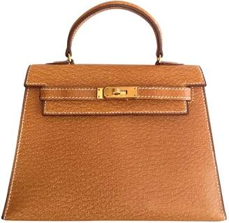 Hermes Kelly Mini Camel Leather Handbag