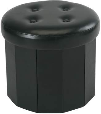 Simplify 6 Pocket Collapsible Shoe Storage Ottoman