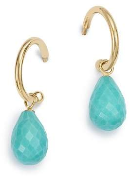 Bloomingdale's Turquoise Briolette Hoop Drop Earrings in 14K Yellow Gold - 100% Exclusive