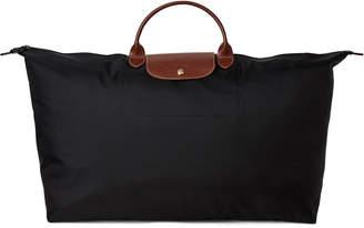 Longchamp Black Le Pliage Large Shoulder Tote