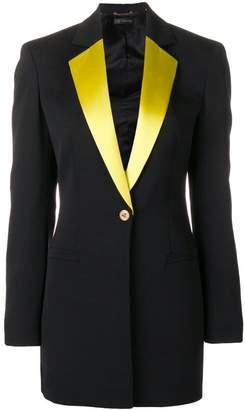 Versace contrasting lapels blazer
