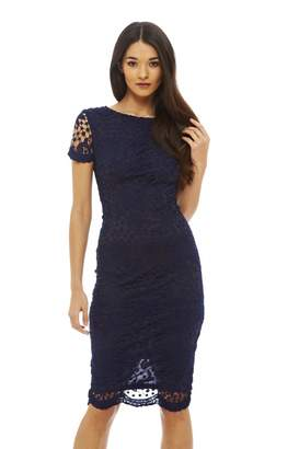 AX Paris AxParis Women's Crochet Lace Midi Dress(, Size:)