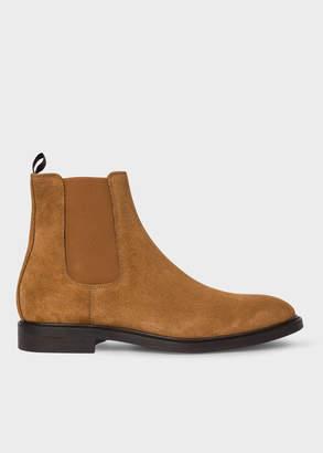 Paul Smith Men's Tan Suede 'Jake' Chelsea Boots