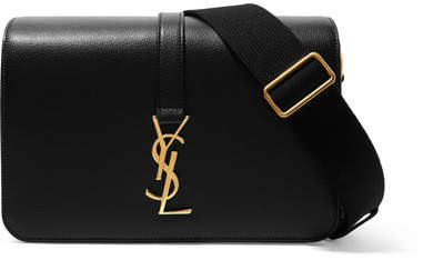 Saint Laurent - Monogramme Sac Université Textured-leather Shoulder Bag - Black