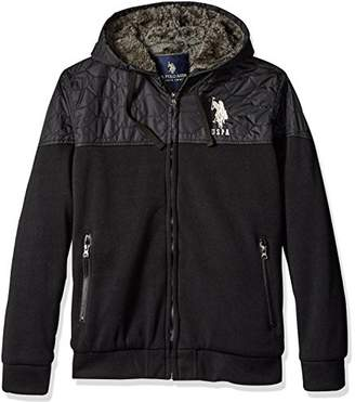 U.S. Polo Assn. Men's Fleece Hoodie With Quilt Yoke