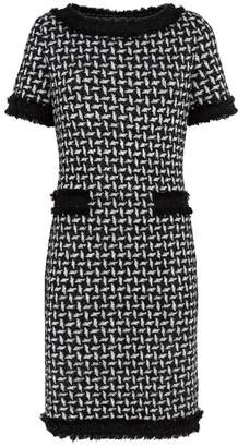 St. John Fringe Trim Dress