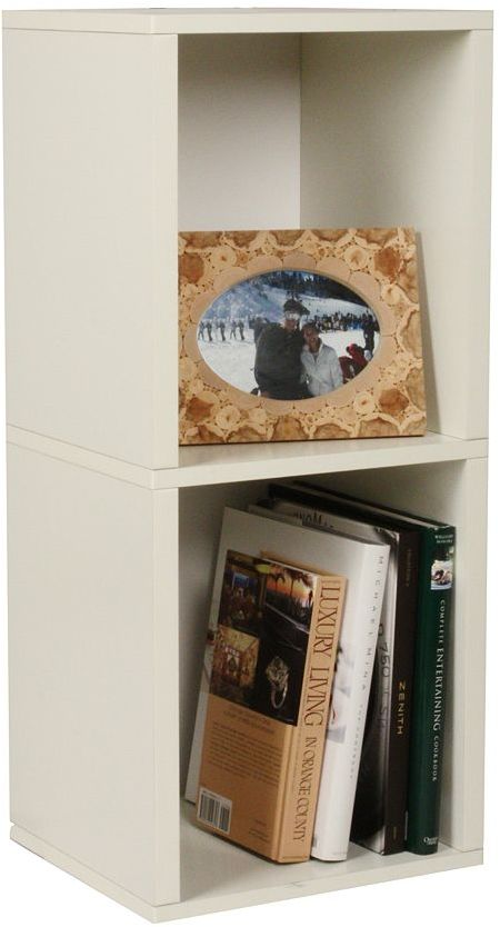 Way Basics zBoard Modular Plus 2-Shelf Bookcase