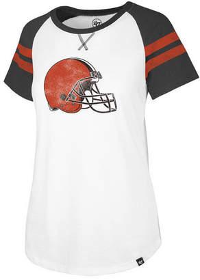 '47 Women's Cleveland Browns Flyout Raglan T-Shirt