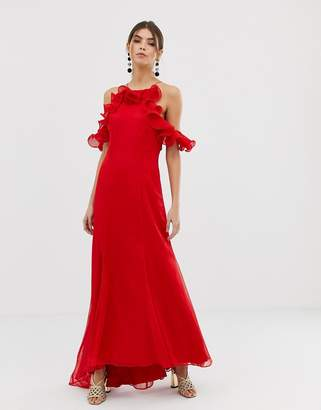 Keepsake Embrace ruffle gown