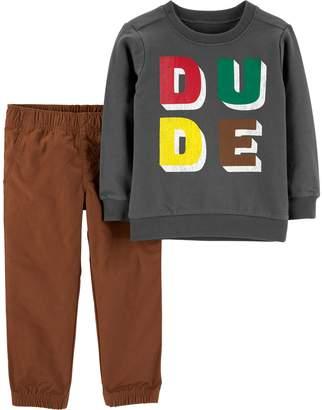 """Carter's Toddler Boy Dude"""" Top & Pants Set"""