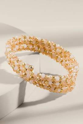 francesca's Brittany Beaded Coil Bracelet - Beige