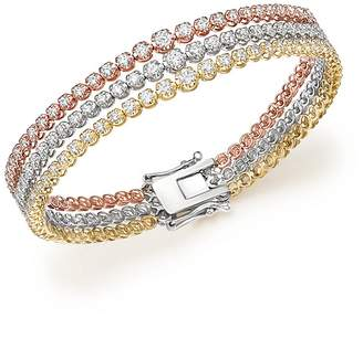 Bloomingdale's Diamond Graduated Triple Row Tennis Bracelet in 14K Gold, 4.0 ct. t.w. - 100% Exclusive