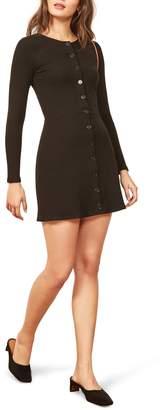 Reformation Aida Button Down Minidress