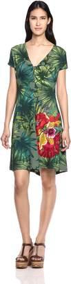 Desigual Women's Maroni Knitted Short Sleeve Dress, XXL