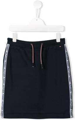 Tommy Hilfiger Junior TEEN cotton logo skirt