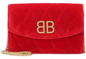 Balenciaga BB Chain velvet shoulder bag