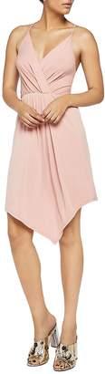 BCBGeneration Women's Sleeveless Asymmetrical Surplice Dress