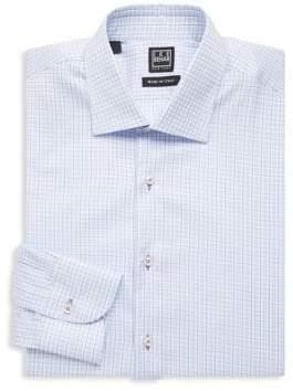 Ike Behar Regular-Fit Checkered Cotton Dress Shirt