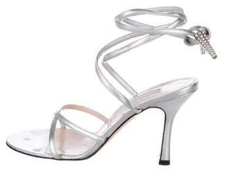 Michael Kors Leather Pee-Toe Sandals