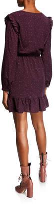 Kensie Celestial Stars Long-Sleeve Ruffle Dress