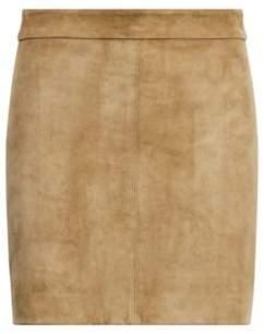 Ralph Lauren Stretch Suede Miniskirt Green 2