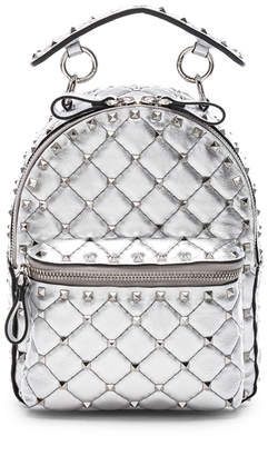 Valentino Mini Metallic Rockstud Spike Backpack