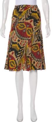 Oscar de la Renta Printed Knee-Length Skirt