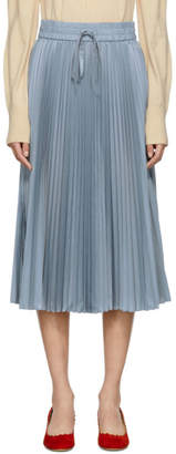 RED Valentino Blue Pleated Skirt