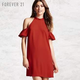 Forever 21 (フォーエバー 21) - Forever 21 オープンショルダーシフトワンピース
