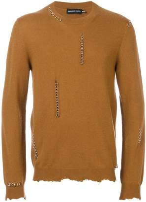 Alexander McQueen piercing sweater