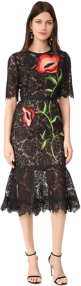 Lela Rose Embroidered Dress $2,995 thestylecure.com