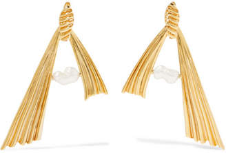 ATTICO + Alican Icoz Amore Gold-plated Pearl Earrings