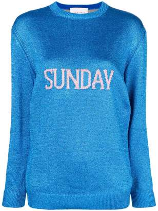 Alberta Ferretti Sunday intarsia knit sweater