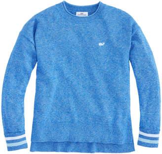 Vineyard Vines Girls Stripe Cuff Poncho Sweater