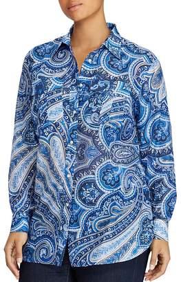 Lauren Ralph Lauren Plus Paisley Utility Shirt