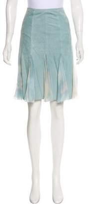 Armani Collezioni Suede Knee-Length Skirt