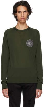 Balmain Green Badge Logo Sweater