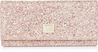 Jimmy Choo LILIA Rosewood Painted Glitter Fabric Mini Bag