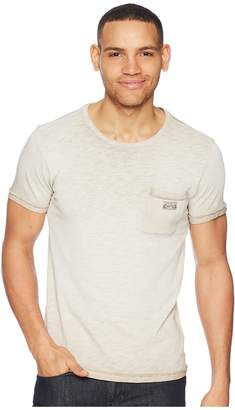 Scotch & Soda Oil-Washed Tee with Cut Sewn Styling Men's T Shirt