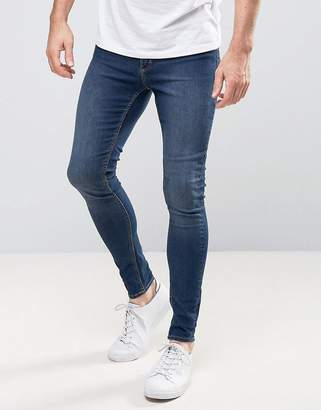 Cheap Monday Mid Spray Jeans In Dim Blue