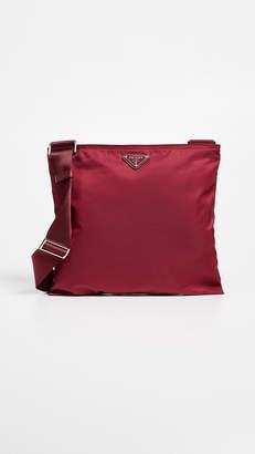 Prada What Goes Around Comes Around Red Nylon Crossbody Bag
