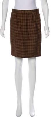 Nina Ricci Herringbone Mini Skirt
