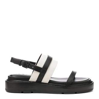 ed6993b8a10 at Brand Alley · Black And Cream Leather Cassie Sling Back Sandal