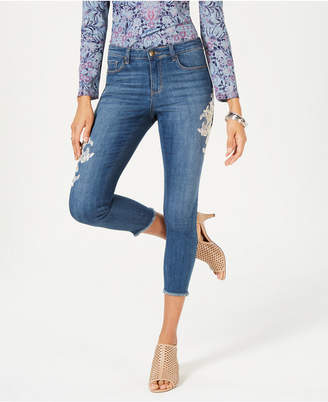 Style&Co. Style & Co Lace-Appliqué Skinny Ankle Jeans, Created for Macy's