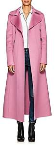 Valentino Women's Double-Breasted Wool-Angora Long Coat - Purple