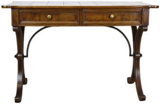 One Kings Lane Vintage Mid-Century Modern Walnut Burl-Wood Desk - Vintage Bella Home
